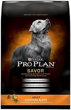 Purina Pro Plan Savor Dry Dog Food Shredded Blend Adult Chicken & Rice Formula