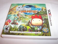 Scribblenauts Unlimited (Nintendo 3DS) XL 2DS Game w/Case & Manual