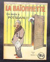 La Baïonnette n°64  Un mois à Potsdam. texte et dessins de RIP