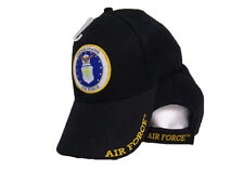 Air Force Emblem Active Duty U.S. Black Embroidered Baseball Ball Cap Hat