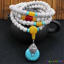 108 Prayer Tibetan 6mm Tibetan Buddhist Bodhi Beads Mala Bless Bracelet Necklace