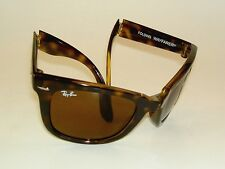 New RAY BAN Sunglasses Tortoise FOLDING WAYFARER  RB 4105 710  Brown Lenses 50mm