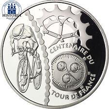 France 1,5 euro 100 ANS TOUR de FRANCE 2003 argent pièce velo