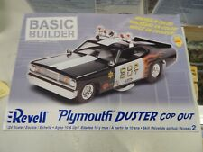 """Plymouth Duster """"Cop Out"""" 1/24 scale model car kit by Revell"""
