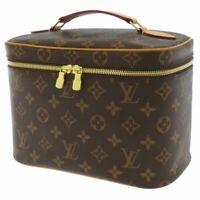 LOUIS VUITTON Nice BB Monogram Canvas Brown M42265 Vanity Bag Italy