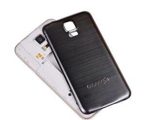 ***Metall-Backcover für Samsung Galaxy S5 Alu Schwarz Case Akkudeckel***