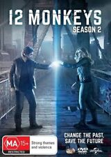 12 Monkeys : Season 2 (DVD, 2016, 4-Disc Set)*Region 1*New & Sealed*See Notes