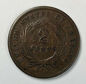 1864 Two Cent Piece 190745R