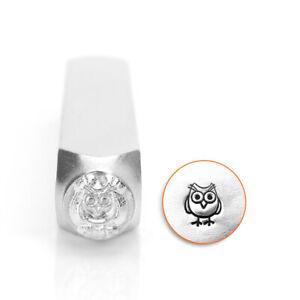 Hootie ImpressArt Owl Metal Stamp, 6mm- Steel DIY Jewelry Stamping Punch