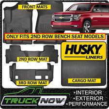 Husky Liner Weatherbeater 2015-19 Suburban Yukon XL Floor Mats & Cargo Mat BLACK