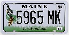 Plaque d'immatriculation américaine MAINE Vacationland