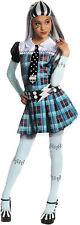 Monster High Frankie Stein Child Girls Book Week Halloween Costume Fancy Dress Small Blue