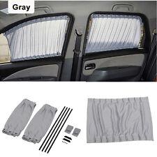 Gray Adjustable VIP Car Window Windscreen Mesh Style Curtain Sun Shade Visor ES