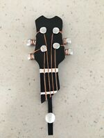Bass or Uke Neck Coat Hook - Four String Headstock - New in Package