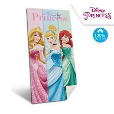 Princess Beach Towel Velour Cinderella Ariel Disney 140cm x 70cm