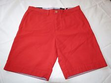 Men's Tommy Hilfiger 32 shorts 78A6603 620 Red flat front cotton walk casual TH