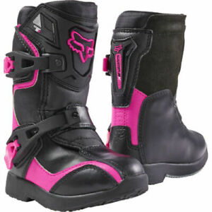 FOX Kids Comp 5K Boots Black/Pink Off-Road/MX/ATV/Motocross/Dirt Bike 05014