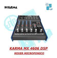 MX 4606 DSP MIXER MICROFONICO CON DSP KARMA 6 CANALI 99 EFFETTI DJ KARAOKE