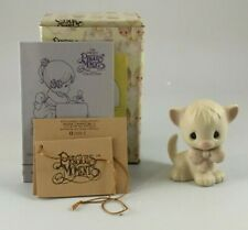 Precious Moments 1990 Animal Collection Cat With Bow E-9267D New