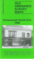 OLD ORDNANCE SURVEY MAP PORTSMOUTH NORTH END 1896 STAMSHAW WHALE ISLAND