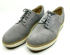CLARK'S Womens Gray Suede Oxfords Lace Up Rubber Sole Rope Detail Size 10