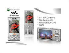 Sony Ericsson Walkman W995i silver(Unlocked) wifi GPS Cellular Phone 8.0MP