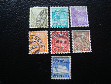 SUISSE - timbre - yvert et tellier n° 271 a 277 obl (A7) stamp switzerland