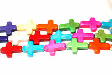 10pc Multi Color Cross Spacer Connector Beads 1-3 day Shipping