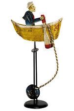 """Salty Dog Sky Hook Rowing Sailor Tin Metal Balance Toy 17.75"""" Nautical Decor"""