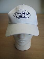 Crown Royal Whiskey Fishing Adjustable Hat! Rare! White! NOS! Perfect for Summer