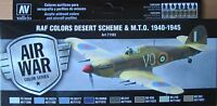 Vallejo Model Air VAL71163 WW2 RAF Desert/MTO Camouflage 8 colour paint set
