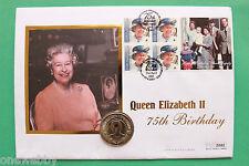 2001 St Helena Coin cover Elizabeth II Crown Gibraltar stamp SNo40779
