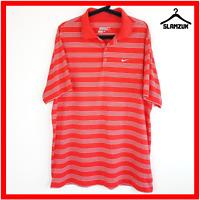 Nike Golf Mens Polo Shirt Size XL Dri-Fit Collared T-shirt Red Striped Tour