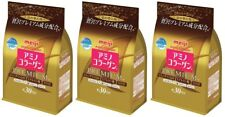 3 pack Meiji Amino Collagen Premium 214g Refill JAPAN 008