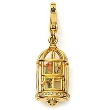RARE Juicy Couture Bird Cage Charm Parrot Crystals Enamel NEW in BOX Retired