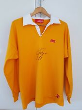 NWT - GEORGE GREGAN - Hand Signed RWC YELLOW JERSEY / Australia Wallabies SIZE L