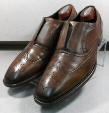 243082 PFi60 Men's Size 11.5 M Brown Leather Made in Italy Johnston & Murphy