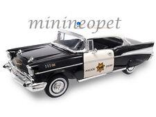 ROAD SIGNATURE 92107 1957 57 CHEVROLET BEL AIR 1/18 DIECAST MODEL POICE CAR