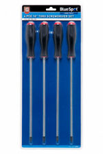 BlueSpot Extra Long Torx Star Screwdrivers Set T15 T20 T25 T30 Magnetic Tip