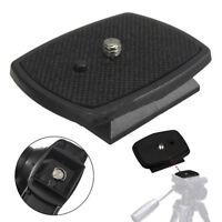 Quick Release Plate For DSLR SLR Digital Camera Tripod Screw Adapter Mount Head