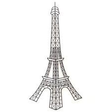 Eiffel Tower Wall Art Hanging Metal Sculpture Rustic BIG BLACK 81cm