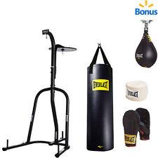 Everlast BLue Dual Station Heavy Bag Stand & 100-lb.Kit & Speedbag Value  NO TAX