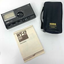 Vintage Korg Chromatic Tuner Wt-12, Tested & Working, In Box, W/ Manual & Case
