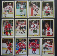 1990-91 Bowman New Jersey Devils Team Set of 12 Hockey Cards