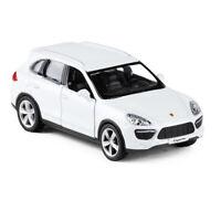 Porsche Cayenne SUV 1:36 Model Car Diecast Toy Vehicle Pull Back Kids White