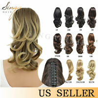 Synthetic Claw Clip In Ponytail Natural Long Wavy Pony Tail Hair Piece Extension