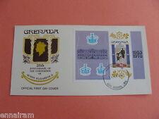 Queen Elizabeth II Silver Jubilee FDC 25 Coronation Grenada 1978 #3