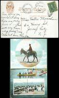 8/31/1908 NEW DORP Cds w MIDLAND BEACH Staten Island NY Cachet, Picture Postcard