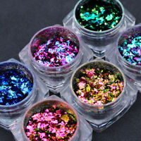 Chameleon Glitter Sequins Nail Art Paillette Flakes  DIY Decoration Tips