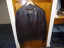 New Vintage Johnston & Murphy Men's Brown Leather Jacket Size Large